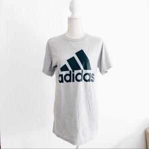 NWT Adidas The Go To Gray Logo T-Shirt